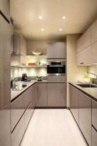 دکوراسیون آشپزخانه کوچک کوچک بدون اپن